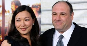 Cast member James Gandolfini  and his wife Deborah Lin pose at the premiere of HBO Films' Cinema Verite at Paramount Pictures Studio in Los Angeles in  April  2011. Photograph: Danny Moloshok/Reuters