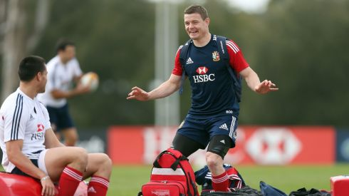 Brian O'Driscoll brings a unique combination of midfield creativity and flanker-style aggression with his vast experience making him a key component of the Lions backline.   Photograph: David Davies/PA Wire.