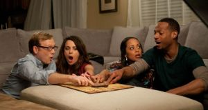 Scareman of the board: Marlon Wayans, far right, and friends in A Haunted House