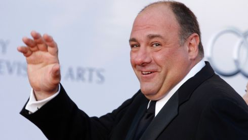 James Gandolfini arrives at the Bafta awards to watch event in Los Angeles, California in this July 9, 2011.  Photograph: Fred Prouser/Reuters