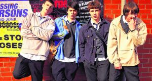 Spikey teens: Zippy (Jordan Murphy), Little Gaz (Adam Long), Dodge (Nico Mirallegro) and Tits (Elliott Tittensor)