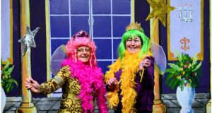 Jean Winston (left) and friend Eileen McGarvey both panto stalwarts photographed at Ramelton Town Hall in Co Donegal. They were both in a 1956 performance of Robin Hood (see previous photo, in which Jean is fourth from left and Eileen seventh from left). Photograph: Bryan O'Brien