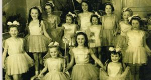 A 1956 performance of Robin Hood (two girls in this photograph are part of a pantomine reunion: see following picture).