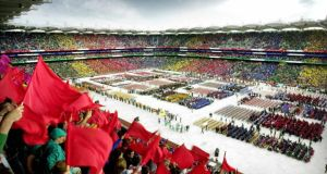The opening ceremony of the 2003 Special Olympics World Summer games at Croke Park