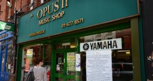 The Opus 11 music shop on Dublin's George's Street which is closing and moving to an online environment at opus2.ie. Photograph: Alan Betson