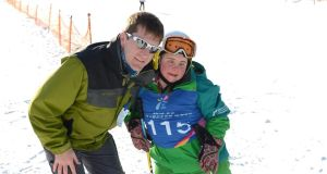 Lucy Best from Lisburn, Co. Antrim, with Matt English, at the  2013 Special Olympics World Winter Games.