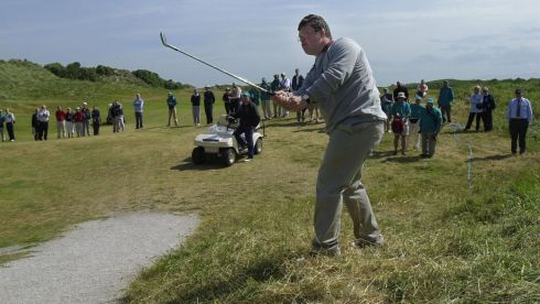 Matthew Sims (Great Britain) during the Special Olympics golf competitions at Portmarnock. Photograph: Frank Miller/The Irish Times