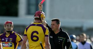 Wexford's Andrew Shore misses the qualifier against Amtrim after being sent off in the replay against Dublin. Photograph:  Donall Farmer/Inpho