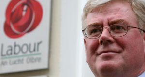Labour leader  Eamon Gilmore  outside the  party's offices in Dublin city centre. Three elected members resigned from the party today. Photograph: PA
