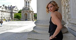Actor Lisa Dwan in Trinity College, Dublin. Photograph: Eric Luke
