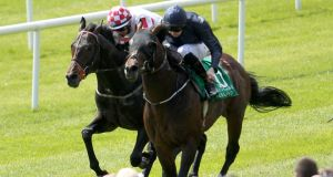 Slade Power (left), who is fancied to land the prestigious Diamond Jubilee Stakes at Royal Ascot.