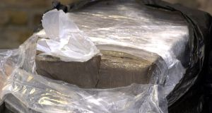 Cannabis worth an estimated €1 million was seized by gardaí following the search of an industrial premises in Dublin. File photograph: Cyril Byrne/The Irish Times
