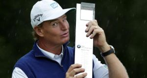 Ernie Els  after winning the BMW International