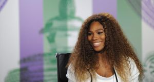 Serena Williams talks to the media during previews for Wimbledon. She attempted to defuse the reported conflcit between herself and world number two Mara Sharapova. Photograph: Jon Buckle-Pool/Getty Images.