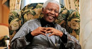 Former South African president Nelson Mandela pictured in London in 2008.  Photograph: Dylan Martinez/Reuters