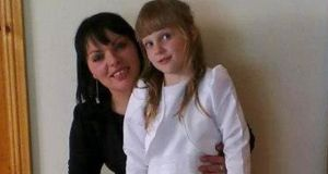 Jolanta Lubiene (27) and her daughter Enrika (8). Picture supplied by MacMonagle, Killarney