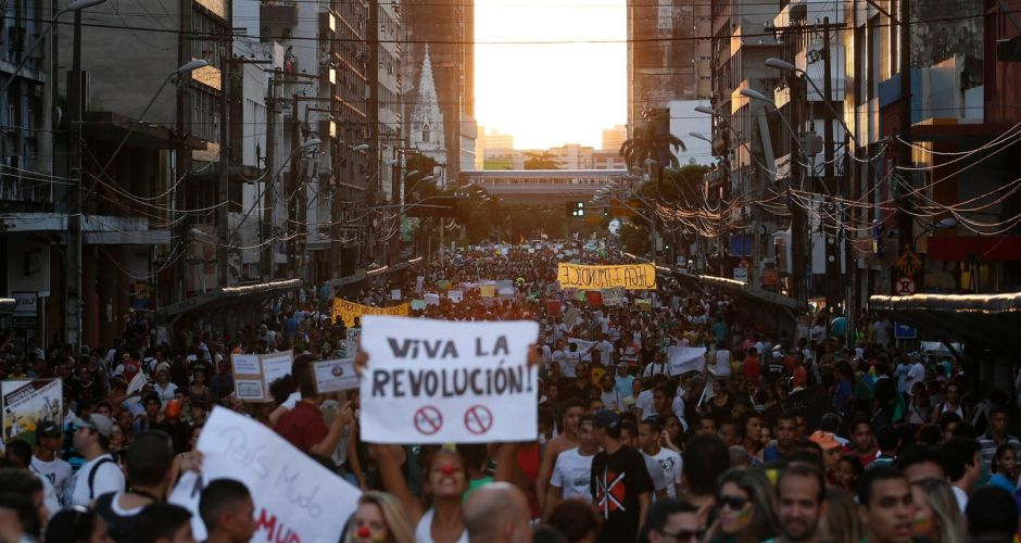Massive Brazil protests