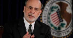 US Federal Reserve chairman Ben Bernanke speaks to the press following the Fed's two-day policy meeting  in Washington last week. Jason Reed/Reuters