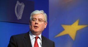 Tánaiste Éamon Gilmore will today present EU ministers with the package on the EU's seven-year budget. Photograph: Alan Betson / The Irish Times