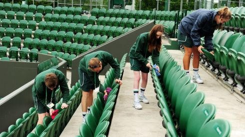 Heads will roll, as well as tennis balls, if those seats are anything less than 200% immaculate - right now. Photograph: Adam Davy/PA Wire