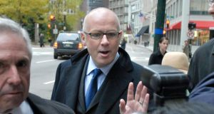 Former Anglo Irish Bank chief executive  David Drumm: can be heard laughing as his colleague sings Deutschland Uber Alles. Photograph: Josh Reynolds/The Irish Times