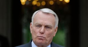"French prime minister Jean-Marc Ayrault: ""We believe in Europe, but we are not the yes men of Europe,"" he said. Photograph: Christian Hartmann/Reuters"