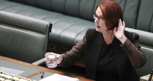 Prime Minister Julia Gillard during question time in Canberra, Australia. Photo by Stefan Postles/Getty Images
