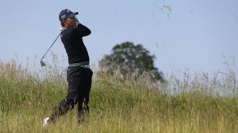 Pablo Larrazabal of Spain participates in the pro-am event. Photograph: Andrew Redington/Getty Images