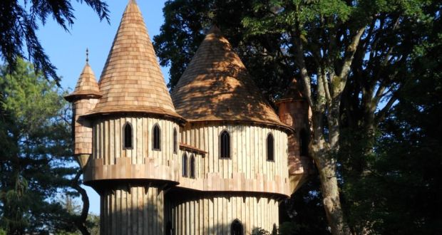 a fairytale treehouse dsigned by uk design company blue forest at birr castle co offaly