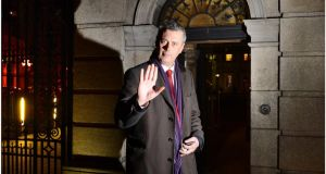 Colm Keaveney TD photographed outside the Dáil after he voted against the controversial social welfare cuts. Photograph: Brenda Fitzsimons