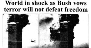 World in shock as Bush vows terror will not defeat freedom