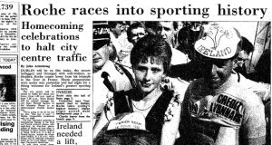 Roche races into sporting history
