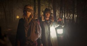See no evil: Brit Marling and Shiloh Fernandez in 