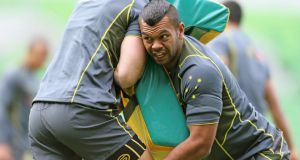 Kurtley Beale during Australia training at AAMI Park in Melbourne on Thursday. He will play fullback against the Lions in the second Test.  Photograph: Scott Barbour/Getty Images
