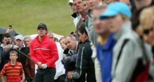 Several hundred people breathing over his shoulder: Rory McIlroy at the Irish Open at Carton House this week. Photograph: Andrew Redington/Getty