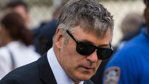 Actor Alec Baldwin arrives for James Gandolfini's funeral. Photograph: Andrew Burton/Getty Images