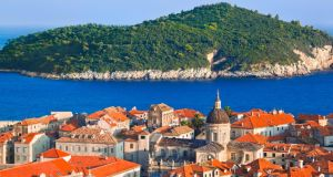 The  old town of Dubrovnik on the Croatian coastline
