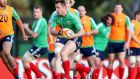 Tommy Bowe training with the Lions' squad yesterday. Photograph: Dan Sheridan/Inpho