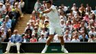 Serbia's Novak Djokovic in action at Wimbledon. Photograph:  Jonathan Brady/PA Wire