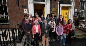 A group from London's Irish Elderly Advice Network at Cassidy's Hotel, Parnell Square after arriving in Dublin for the Gathering