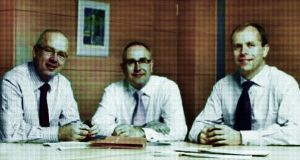 Bankers: David Drumm, Peter Fitzgerald and John Bowe. Treatment by Dearbhla Kelly/The Irish Times