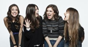 Comedy stalwart: Lena Dunham (second  right) with Allison Williams, Zosia Mamet and Jemima Kirke from her series Girls. Photograph: Chad Batka/New York Times
