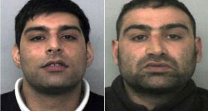 Brothers Anjum (31, left) and Akhtar Dogar (32), two of five members of a paedophile gang jailed for life on Thursday for sexually abusing  underage girls. Photograph: Thames Valley Police/PA Wire