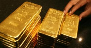Gold touched a fresh three-year low of $1,180 a troy ounce, having tumbled 29.5 per cent since the start of the year.