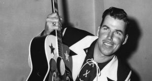 American country music and western music singer Slim Whitman. Photograph: Edward Miller/Keystone/Getty Images