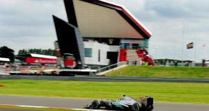 Mercedes driver Lewis Hamilton took pole for the 2013 British Grand Prix at Silverstone. Photograph: Rui Vieira/PA Wire