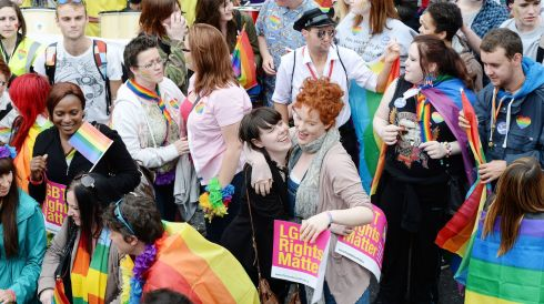 "The theme of this years parade is ""Live, Love & Be Proud."" Photograph: Alan Betson /The Irish Times"