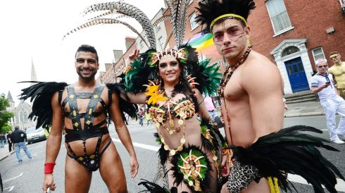 Participants in Dublin's Pride parade. Photograph: Alan Betson /The Irish Times