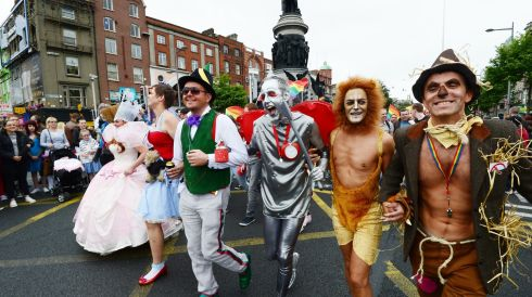 Participants in this year's Pride parade. Photograph: Alan Betson /The Irish Times