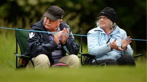 Frank and Mary Greenwell, from Jersey at the final day of The Irish Open, in Carton House, Maynooth, Co. Kildare. Photo: Dara Mac Donaill / THE IRISH TIMES